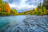 Autumn Turns in Tsina River