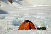 Camp on a Glacier