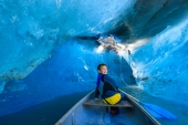 Canoe Inside the Glacier