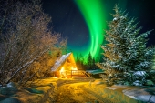 Cozy Alaskan Winter Night