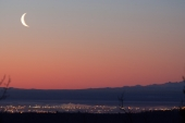 Crescent Moon Over Fairbanks