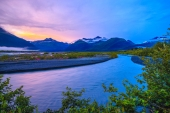 Evening on Valdez Glacier Stream