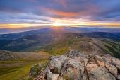 Sunset From Flattop Face