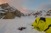Sunset from Denali Base Camp