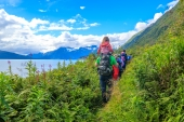 Trekking Shoup Bay Trail