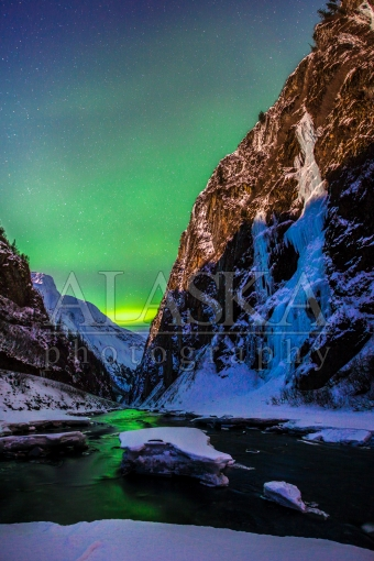 Bridal Veil and the Aurora Painted Lowe