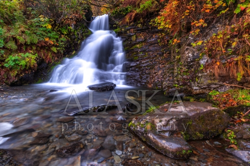 Crooked Creek Falls in Autumn