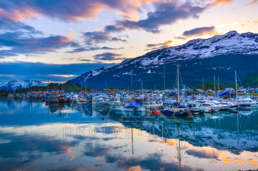 Evening at the Valdez Boat Harbor