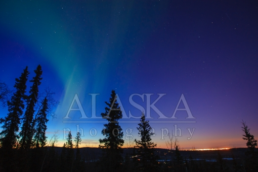 Fairbanks Fading Northern Lights
