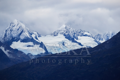 Fresh Snow Above Glaciers