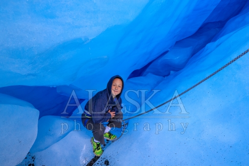 Kid Deep in a Glacier