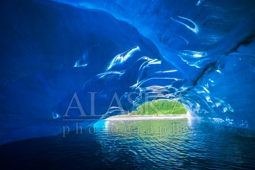 Looking out from in an Iceberg