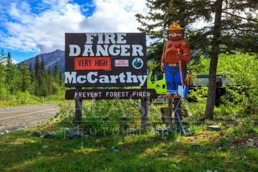 McCarthy Fire Danger Sign