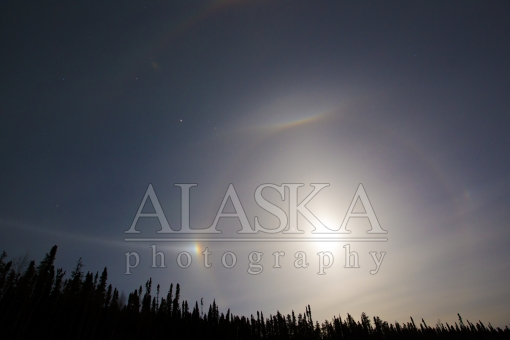 Moon Halo and Sundog