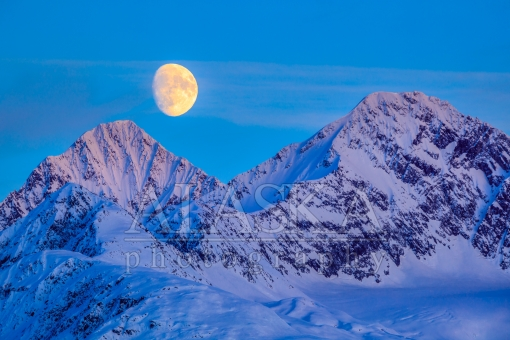 Moon Over East Peak