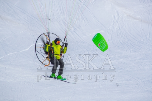 Powered Paraglider Skier