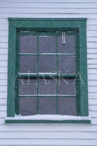Snowy Old Window
