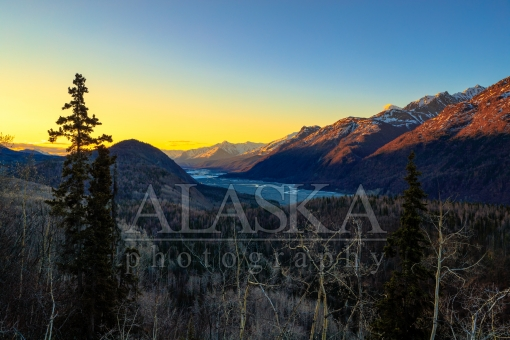 Spring Sunrise Up the Matanuska River