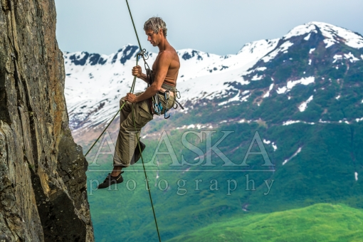 Summer Rappelling in Valdez