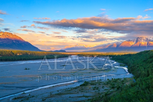 Sunset Down Matanuska River