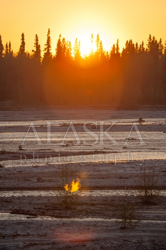 Sunset Over Gerstle River
