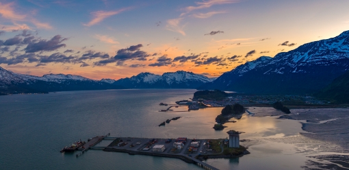 Sunset Overlooking Valdez