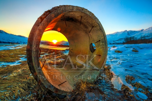 Sunset Through the Cylinder