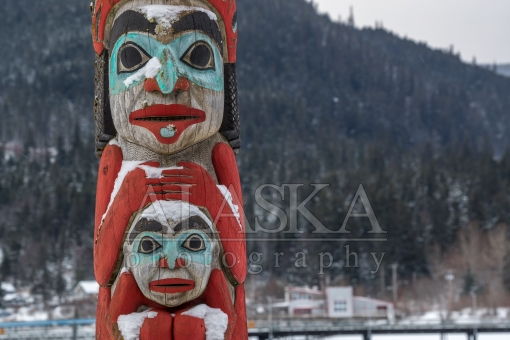 Totem Pole by the Haines Boat Harbor.