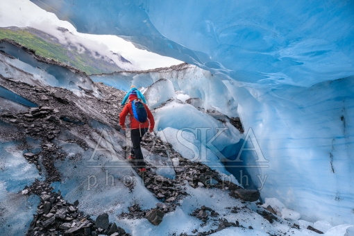 Walking Out of the Glacier